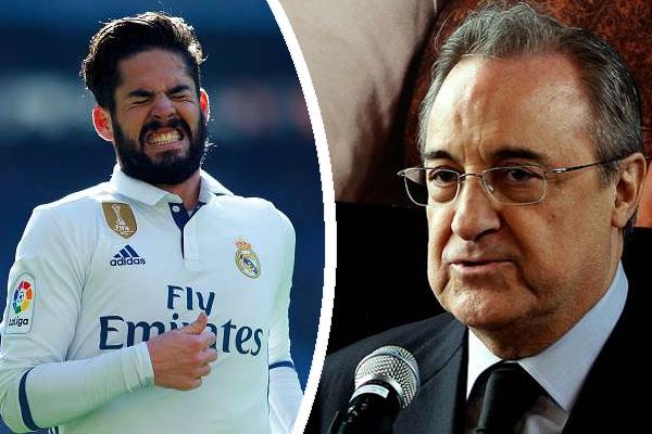 رئيس ريال مدريد غاضب من لاعب فريقه إيسكو ألاركون