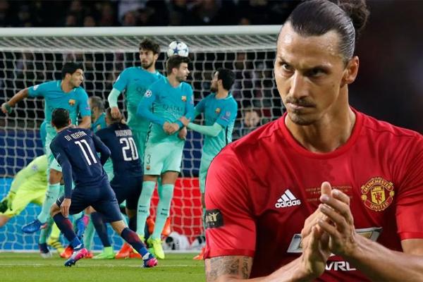 اعترف اللاعب السويدي المخضرم زلاتان إبراهيموفيتش بتشجعيه لباريس سان جرمان أمام برشلونة