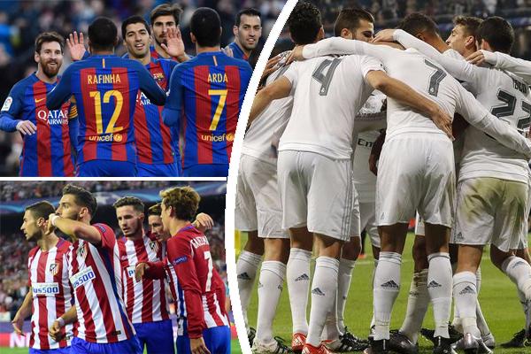 فرضت الأندية الإسبانية نفسها بقوة في ترتيب