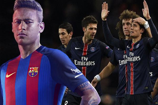 نيمار راهن زملائه على هز شباك الفريق الباريسي في مباراة الإياب بهدفين على الأقل