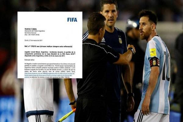 إيقاف ميسي 4 مباريات مع الأرجنتين