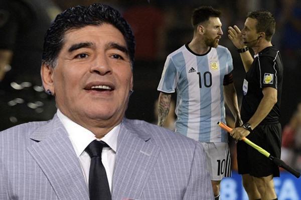 نفى مارادونا وجود أي علاقة له بقرار الاتحاد الدولي لكرة القدم بإيقاف مواطنه ميسي 4 مباريات
