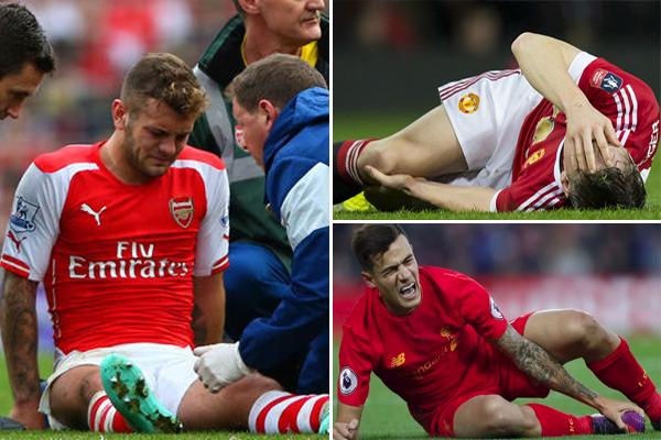 أرسنال الأكثر تضررا من إصابات لاعبيه يليه مانشستر يونايتد ثم ليفربول