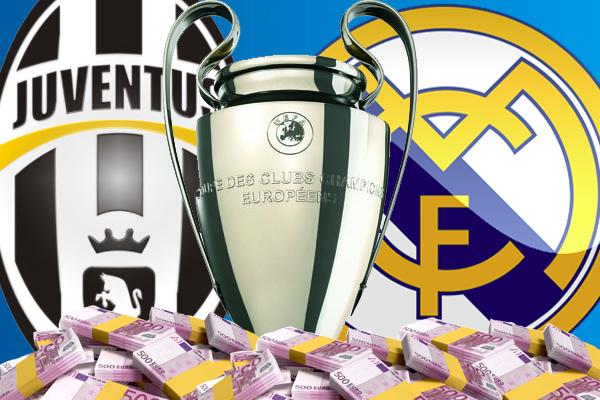 يوفنتوس سيحصل على عائدات مالية في حال تتويجه بدوري أبطال أوروبا أكثر مما سيحققه ريال مدريد