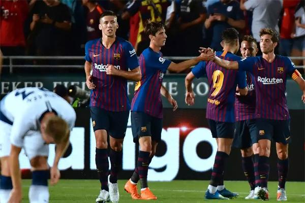 يخوض برشلونة مباراتين أخريين في كأس الابطال ضد روما وميلان الإيطاليين