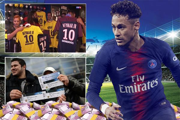 باريس سان جرمان حقق مكاسب مالية كبيرة منذ قدوم نيمار إلى ملعب