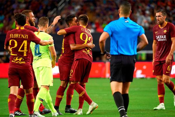 تعرض العملاق الكاتالوني لسقوط مدو امام فريق العاصمة الايطالية