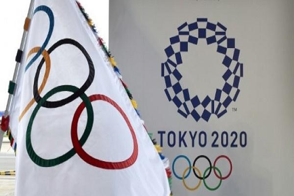 صورة من الارشيف لشعار جدورة الالعاب الاولمبية في طوكيو عام 2020