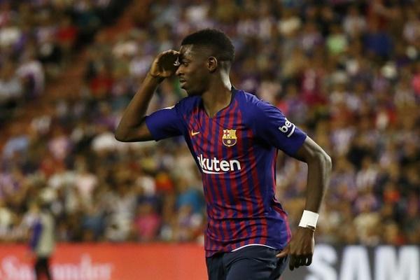 ديمبيلي يقود برشلونة إلى فوزه الثاني