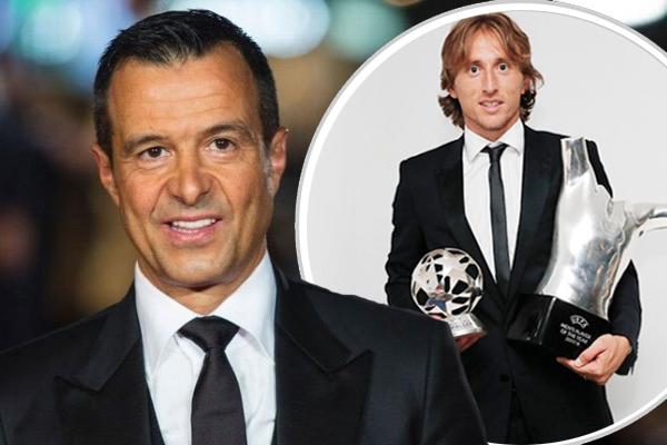 اعتبر وكيل رونالدو بأن اختيار الكرواتي لوكا مودريتش كأفضل لاعب كرة قدم في أوروبا سخيف للغاية