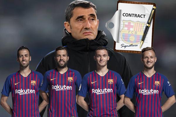 برشلونة ركز هذه المرة على تجديد عقود لاعبيه الذين تجاوزت أعمارهم 30 عاماً