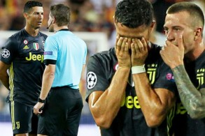 غادر رونالدو أرض ملعب ميستايا وهو يبكي