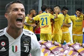 يتقاضى المهاجم البرتغالي راتباً سنوياً قدره 31 مليون يورو  بينما جميع لاعبي فروزينوني  لا يحصلون سوى على 11 مليون يورو