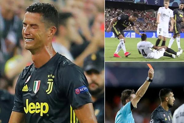تعرض رونالدو للطرد في مباراة فريقه ضد فالنسيا قد عزز لديه الشعور بالاضطهاد من قبل الجميع بعدما قرر الرحيل عن ريال مدريد