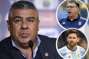 رئيس الاتحاد الأرجنتيني يلمح لعودة المدرب مارتينو وميسي لصفوف المنتخب الوطني