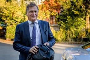 صورة مؤرخة 11 تشرين الأول/أكتوبر 2017 للأمين العام السابق والموقوف الفرنسي جيروم فالك في لوزان.
