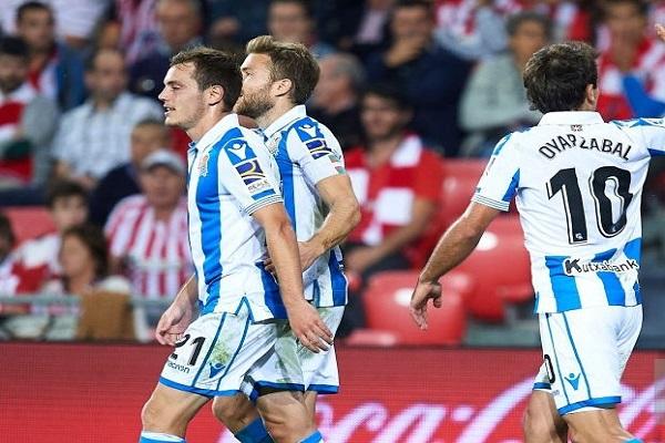 ريال سوسييداد يعمق جراح أتلتيك بلباو في الدوري الإسباني