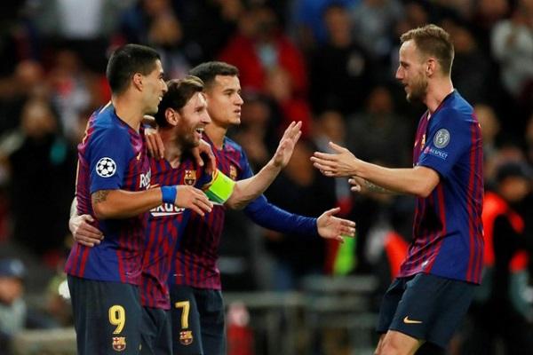 ميسي سكة الانتصارات لبرشلونة