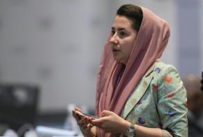 الأفغانية سميرة أضغري عضو المجلس الأولمبي الأسيوي