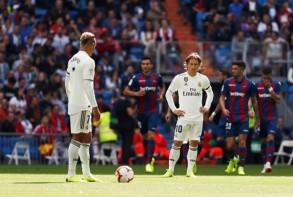 ريال يخسر أمام ليفانتي بعد عقم تهديفي تاريخي