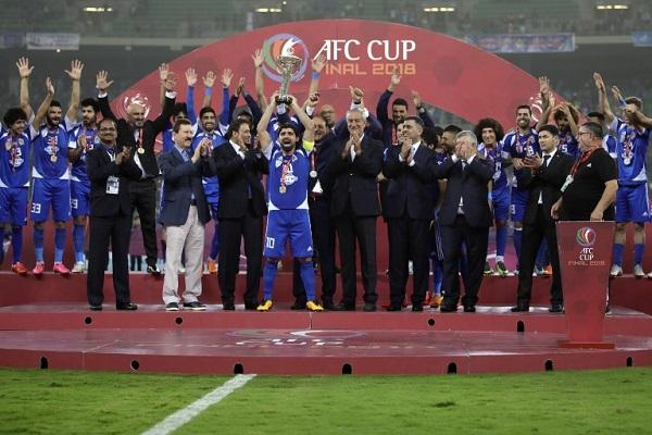 القوة الجوية يتوج بلقب كأس الاتحاد الآسيوي للمرة الثالثة تواليا