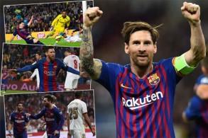 استغل ميسي مواجهات برشلونة لإشبيلية في كافة البطولات للتأكيد عن علو كعبه كهداف من الطراز الرفيع