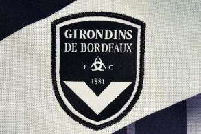 شعار نادي بوردو الفرنسي لكرة القدم، في صورة مؤرخة السادس من آب/أغسطس 2015.