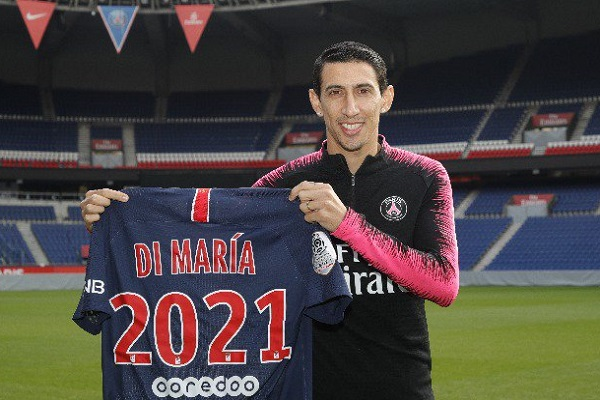 دي ماريا يمدد عقده مع باريس سان جرمان حتى 2021