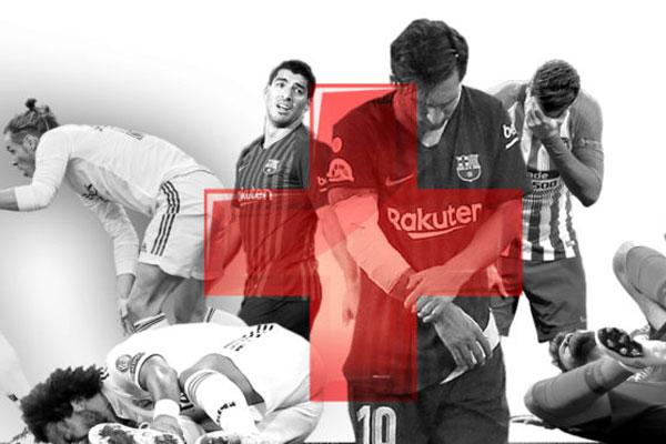 سبب الأزمة التي يعاني منها أقطاب الكرة الإسبانية يعود إلى كثرة الإصابات