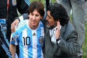 مارادونا يعدل عن رأيه تجاه ميسي