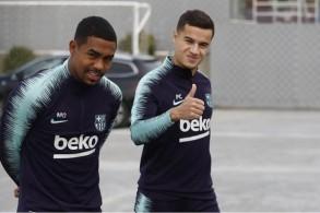 كوتينيو يعاود التمارين مع برشلونة في أسبوع لقاء أتلتيكو