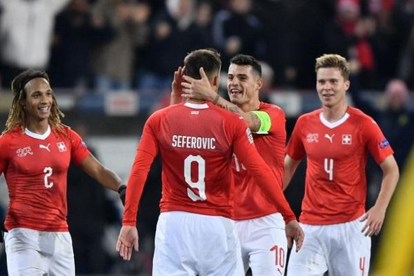 سيفيروفيتش يسقط بلجيكا ويمنح سويسرا بطاقة المربع الذهبي