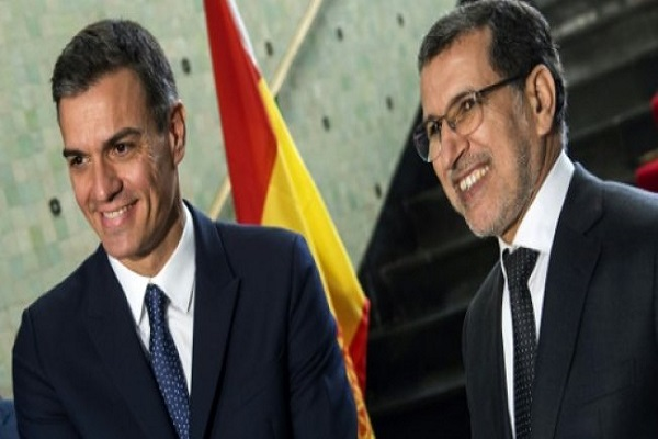 رئيس الحكومة المغربية سعد الدين العثماني برفقة نظيره الإسباني بيدرو سانشيز