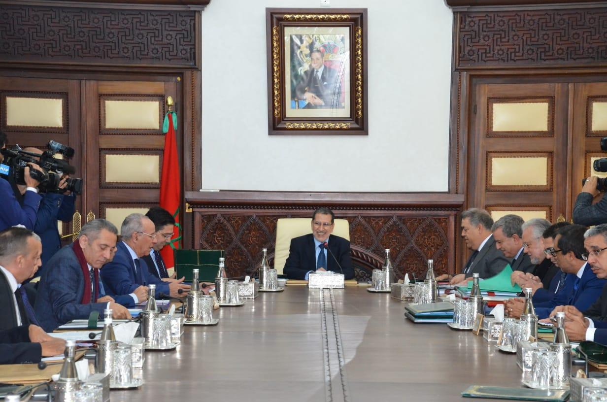 العثماني لدى ترؤسه اجتماع مجلس الحكومة اليوم