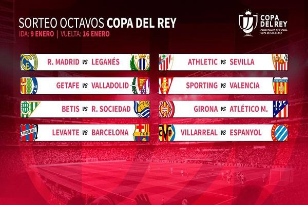 برشلونة-ليفانتي وريال مدريد-ليغانيس في ثمن نهائي كأس إسبانيا