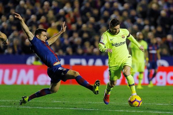 برشلونة يثأر من ليفانتي