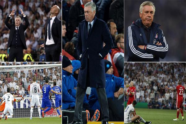 واصل المدرب الإيطالي كارلو انشيلوتي انتكاساته في مسابقة دوري أبطال أوروبا