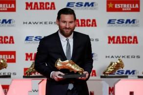 ميسي يتوج بالحذاء الذهبي لأفضل هداف في أوروبا للمرة الخامسة