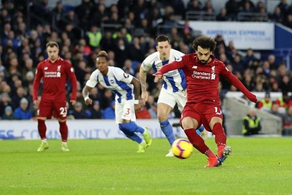 هدف صلاح يبعد ليفربول 7 نقاط في الصدارة
