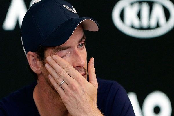موراي يعلن بدموع الألم اعتزال كرة المضرب في 2019