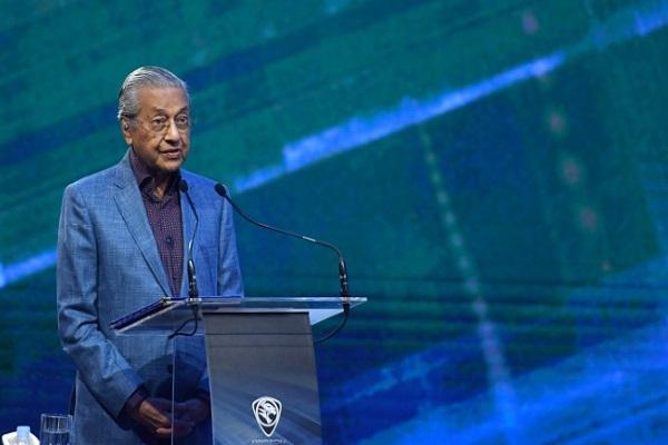 رئيس الوزراء الماليزي مهاتير محمد يتدث في كوالمبور في 12 كانون الأول/ديسمبر 2018