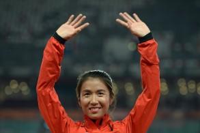 البطلة العالمية والأولمبية الصينية ليو هونغ تسجل رقما قياسيا في سباق 50 كلم مشيا السبت 9 آذار/مارس 2019