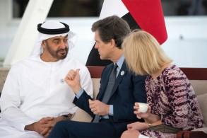 محمد بن زايد ولي عهد أبوظبي وتيم شرايفر رئيس الأولمبياد الخاص العالمي