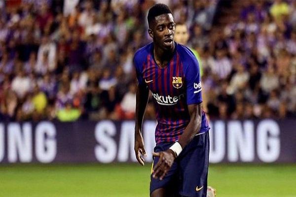برشلونة يفتقد ديمبيلي لنحو شهر بسبب الإصابة