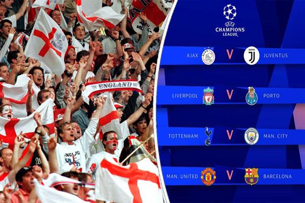 لم تكن الجماهير الإنكليزية ان تحلم بهذا النهائي لولا النتائج الإيجابية التي حققها ممثلوها في دوري أبطال أوروبا