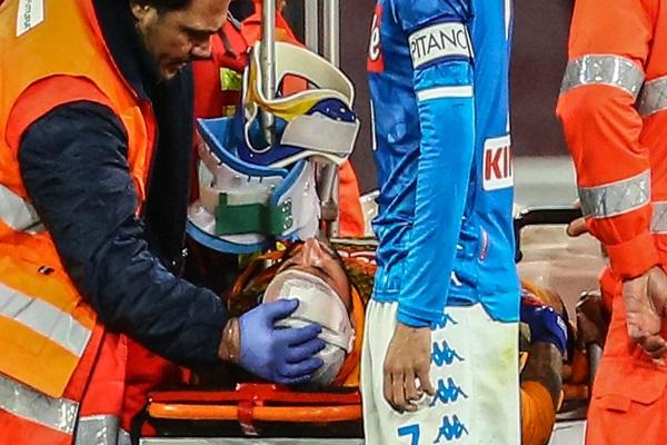 أوسبينا يتعافى في العناية المركزة بعد تعرضه لإصابة في الرأس