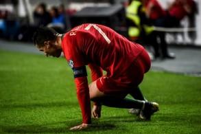 لم يكمل رونالدو مباراة البرتغال مع صربيا في لشبونة ضمن تصفيات كأس أوروبا 2020 بسبب الاصابة