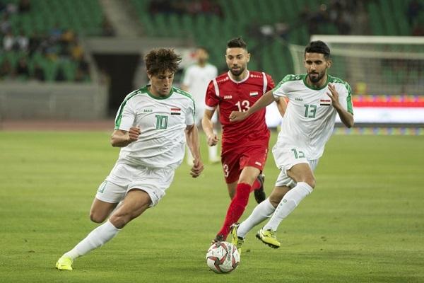 من مباراة العراق وسوريا في بطولة الصداقة