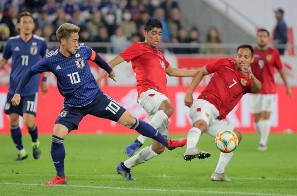 فوز صعب لليابان على بوليفيا في مباراة ودية