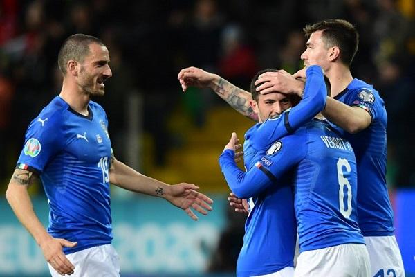 إيطاليا تؤكد بدايتها الجيدة باستعراضها أمام ليشتنشتاين